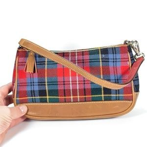 COACH Plaid Shoulder Purse Clutch